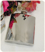 Engraved Premium Quality Polished Stainless Steel Flask