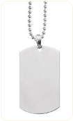 Engraved Silver and Gold Dog Tag Necklaces