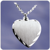 Engraved Pewter Mini Heart Pendant