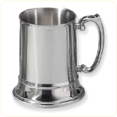 Engraved Stainless Steel Beer Stein Tankard Mugs 16 oz.