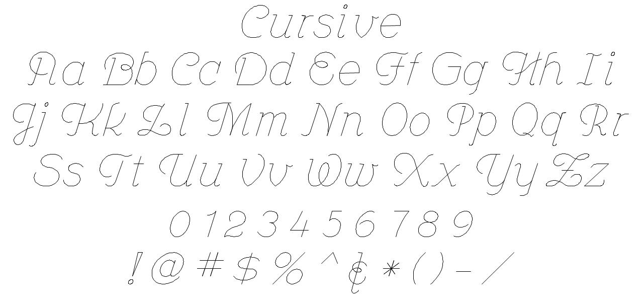 EngravingShop Cursive Font Style
