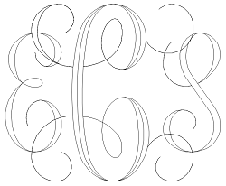 Interlocking Script Monogram Sample