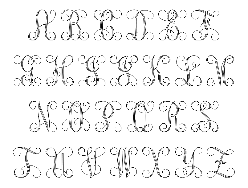 Script Initial Font Style