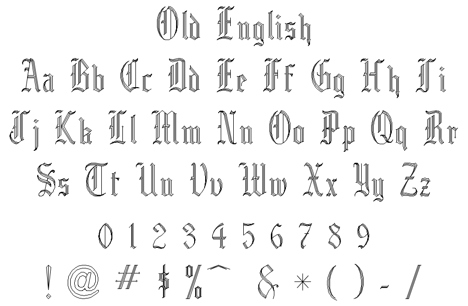 Old English Style Fonts 18