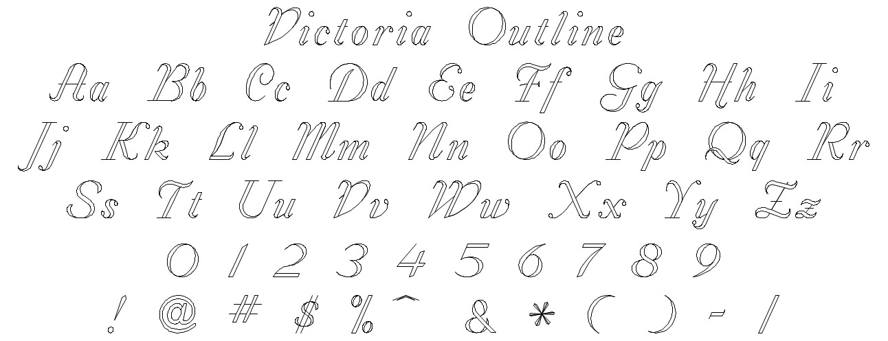 Victoria Outline Font Style