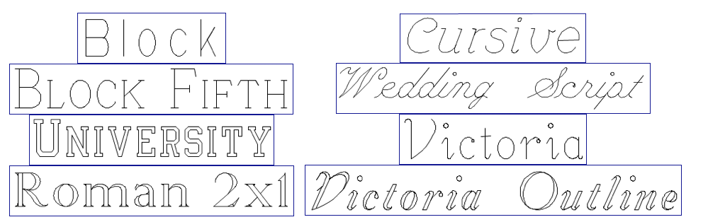 font choices for engraving