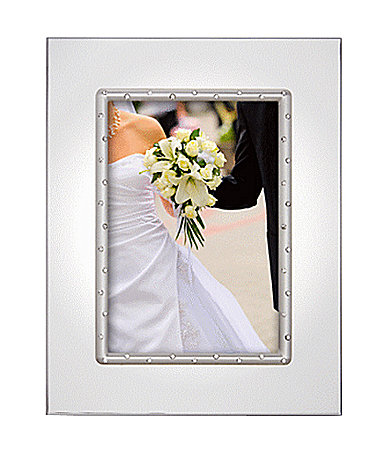 engravable 5x7 picture frame silver plated wedding gifts